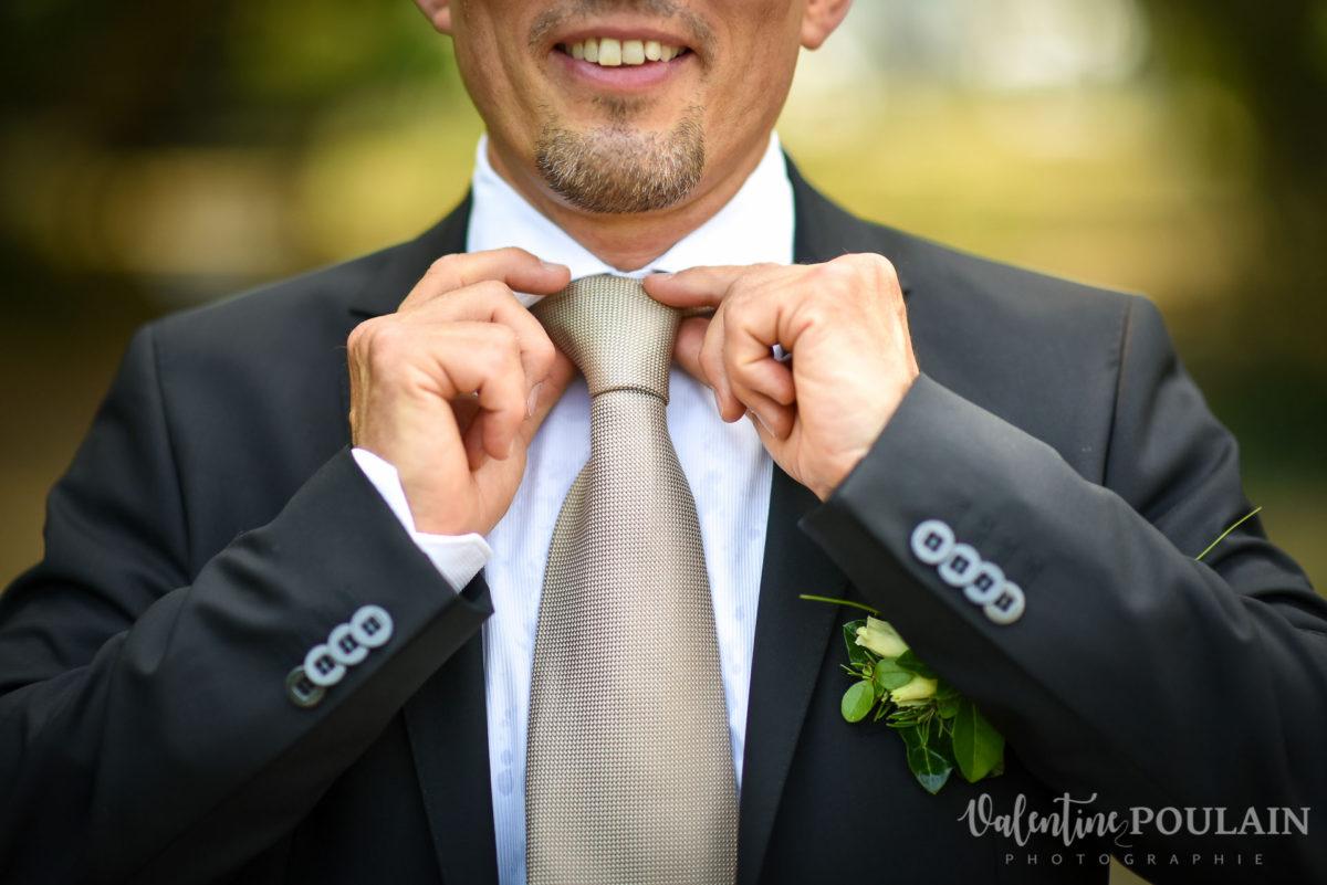 Mariage musée papier peint - Valentine Poulain cravate