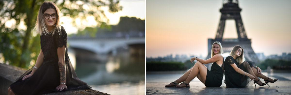 Shooting photo portrait Paris - Valentine Poulain duo