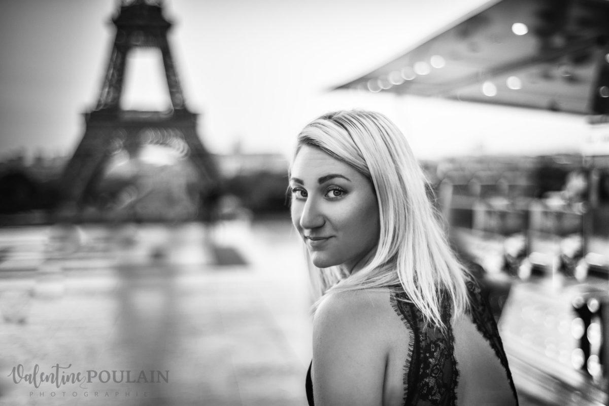 Shooting photo portrait Paris - Valentine Poulain n&b