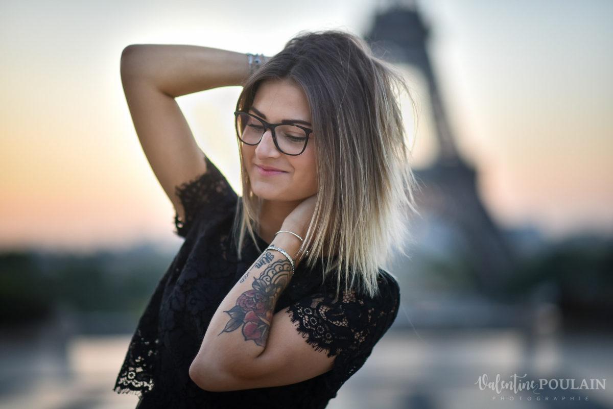 Shooting photo portrait Paris - Valentine Poulain tour eiffel