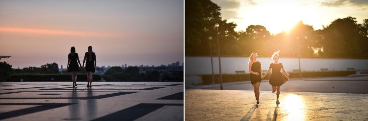 Shooting photo portrait Paris - Valentine Poulain sunrise