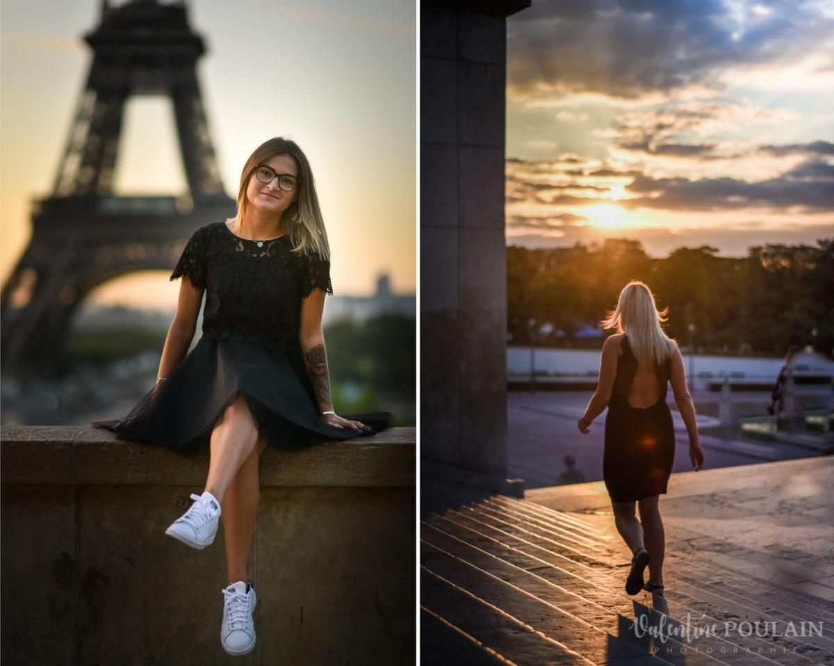 Shooting photo portrait Paris - Valentine Poulain Eiffel tower