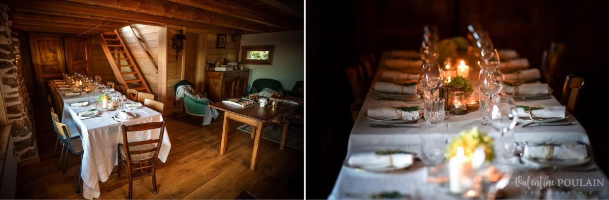 Mariage intimiste montagne - Valentine Poulain table