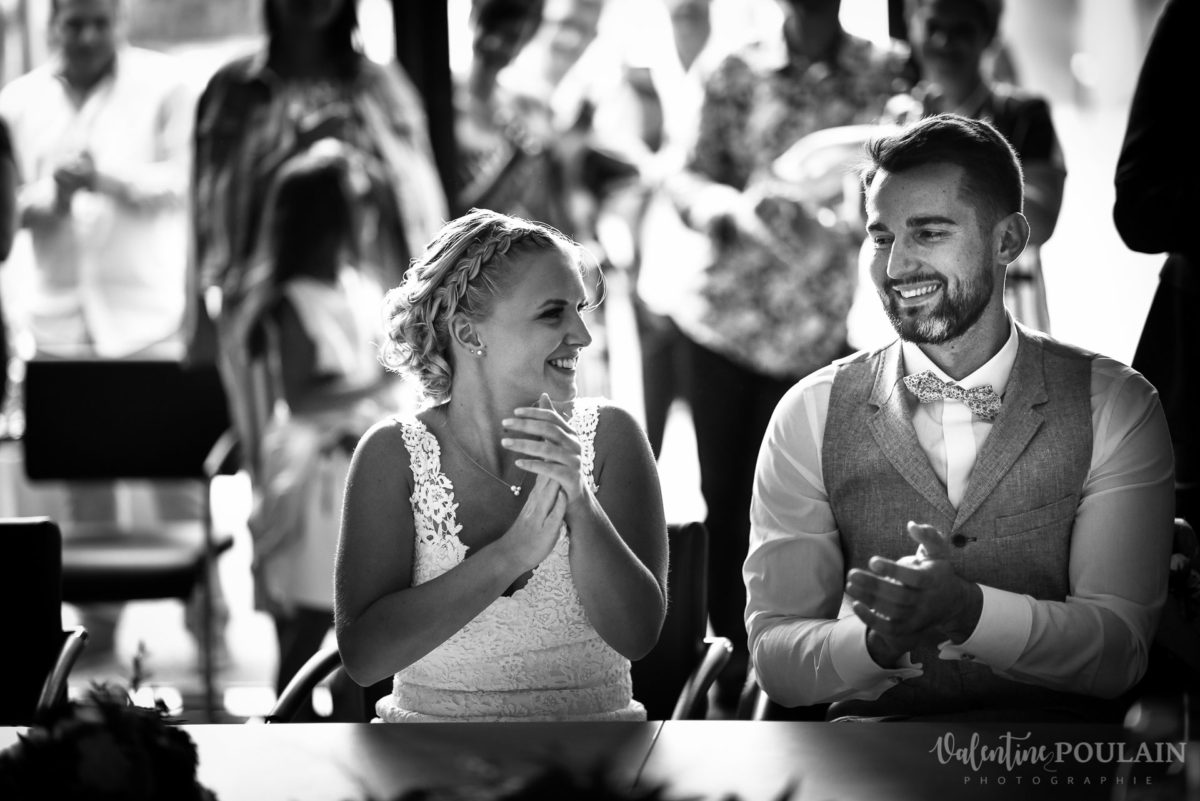 Mariage père marie fille - Valentine Poulain applaudissements