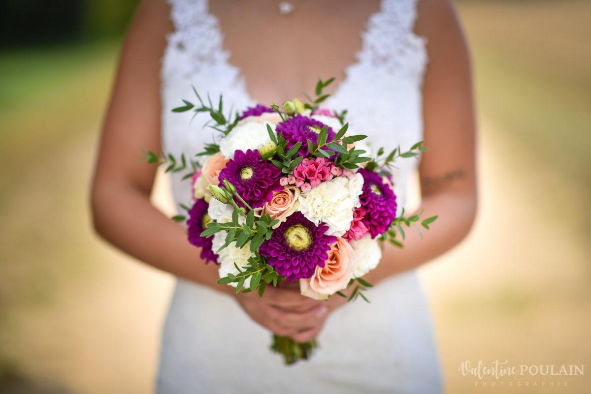 Mariage père marie fille - Valentine Poulain bouquet