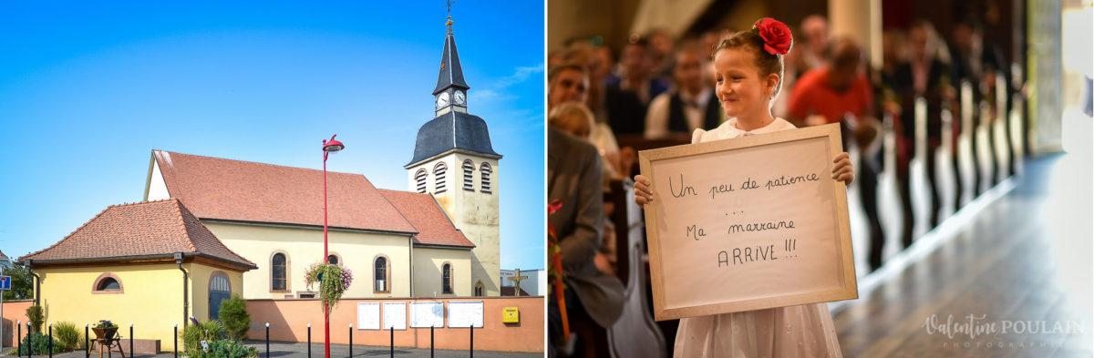 Mariage père marie fille - Valentine Poulain église