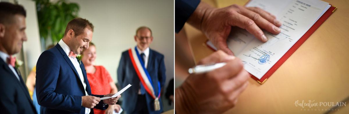 Mariage père marie fille - Valentine Poulain signer