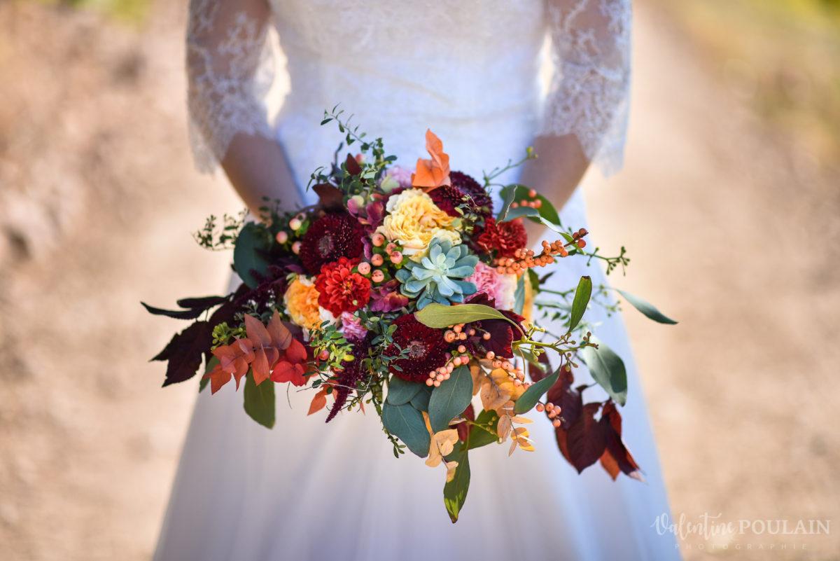 Mariage palette couleurs automne - Valentine Poulain bouquet
