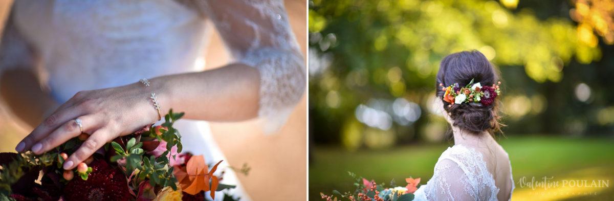 Mariage palette couleurs automne - Valentine Poulain coiffure
