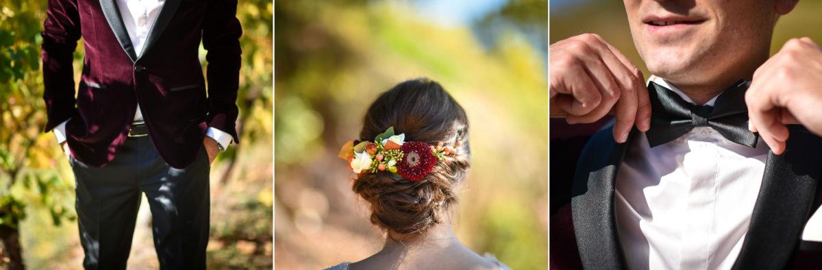 Mariage palette couleurs automne - Valentine Poulain détails