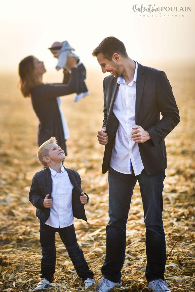 Shooting famille quel âge - Valentine Poulain père et fils