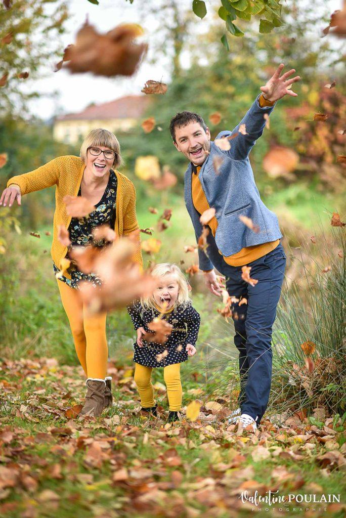 Famille feuilles automne - Valentine Poulain