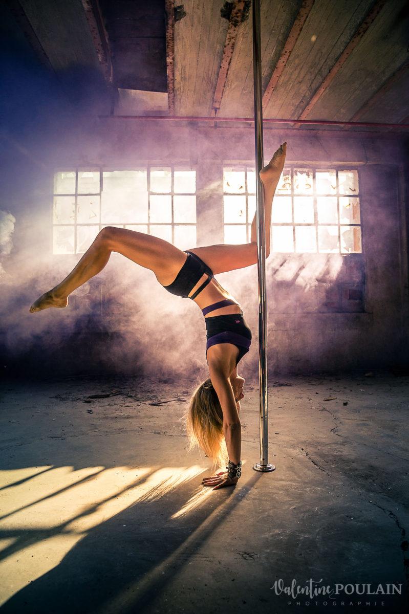 Shooting photo Pole Dance - Valentine Poulain poirier