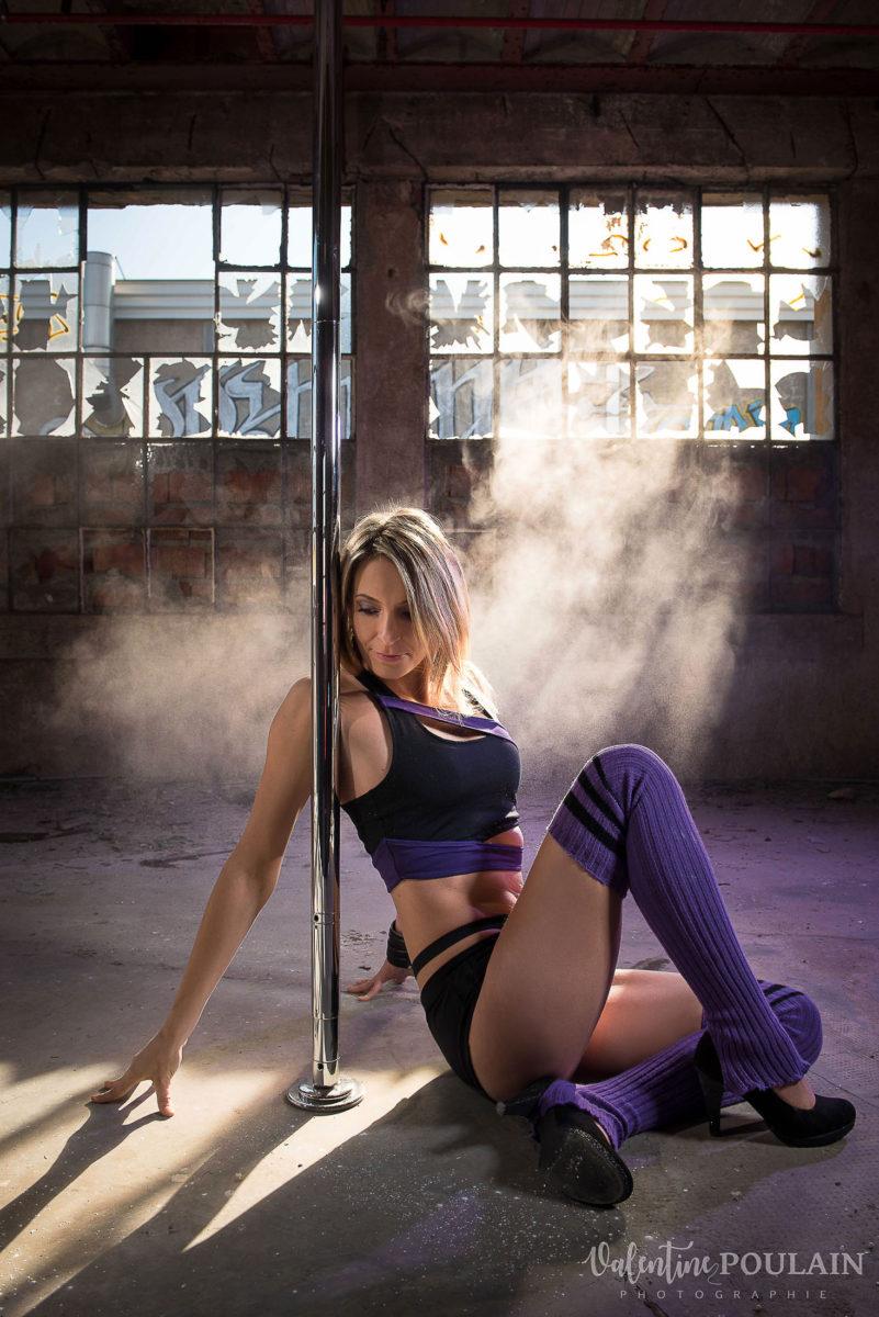 Shooting photo Pole Dance - Valentine Poulain sol