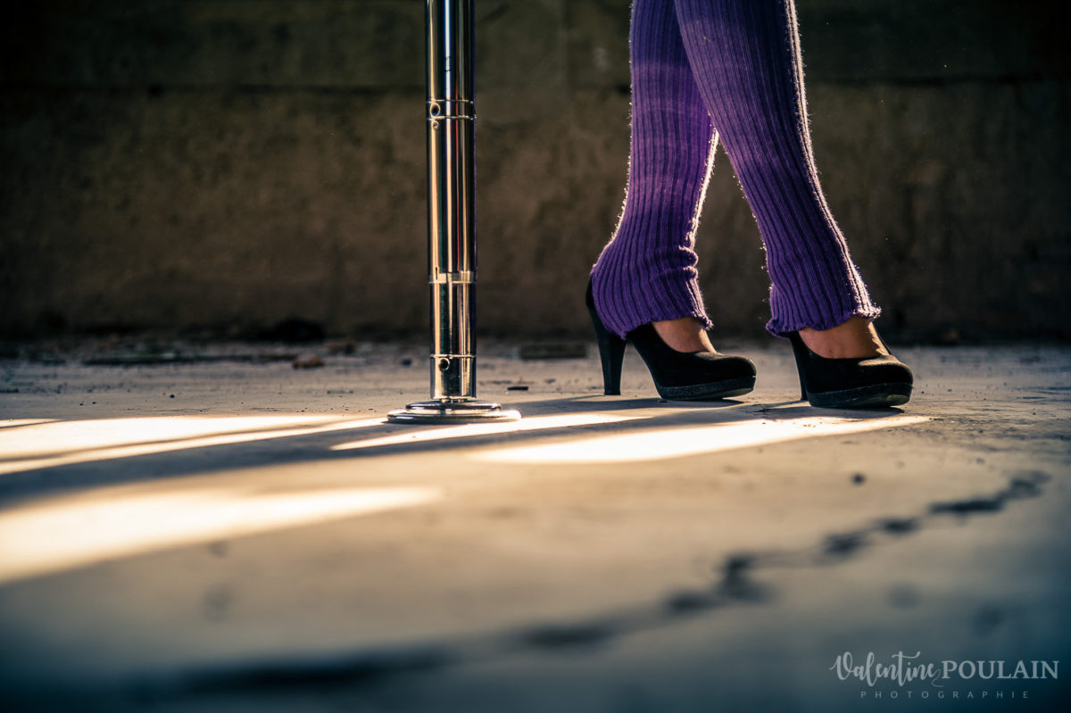 Shooting photo Pole Dance - Valentine Poulain talons