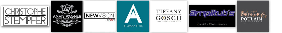 Logos partenaires Shooting - Valentine Poulain