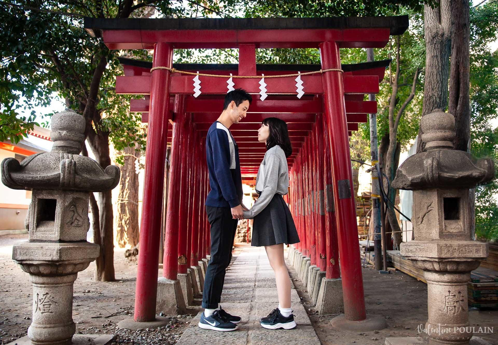 Couple Maho Ryo Japon temples