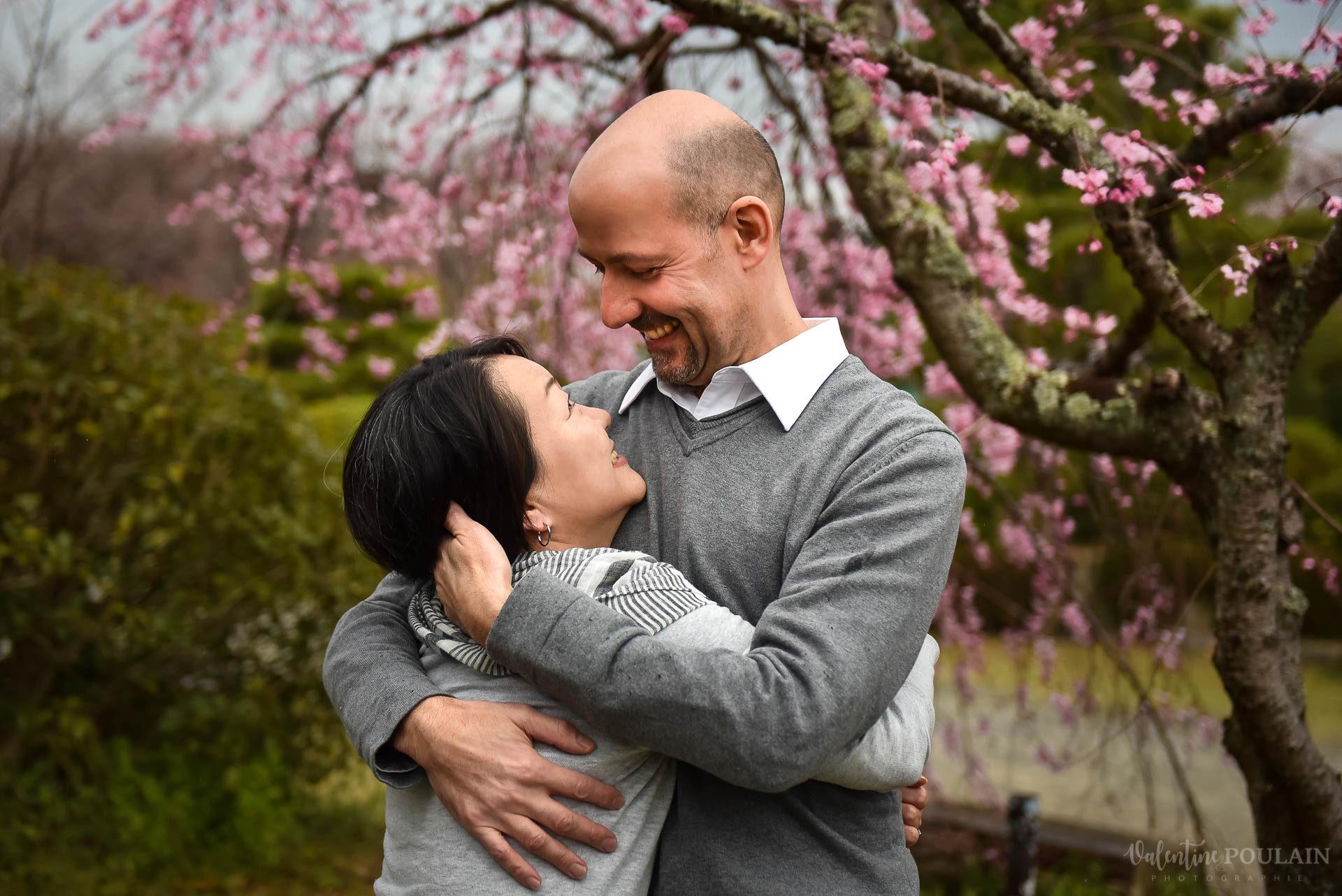 Couple cerisiers Kyoto - Valentine Poulain