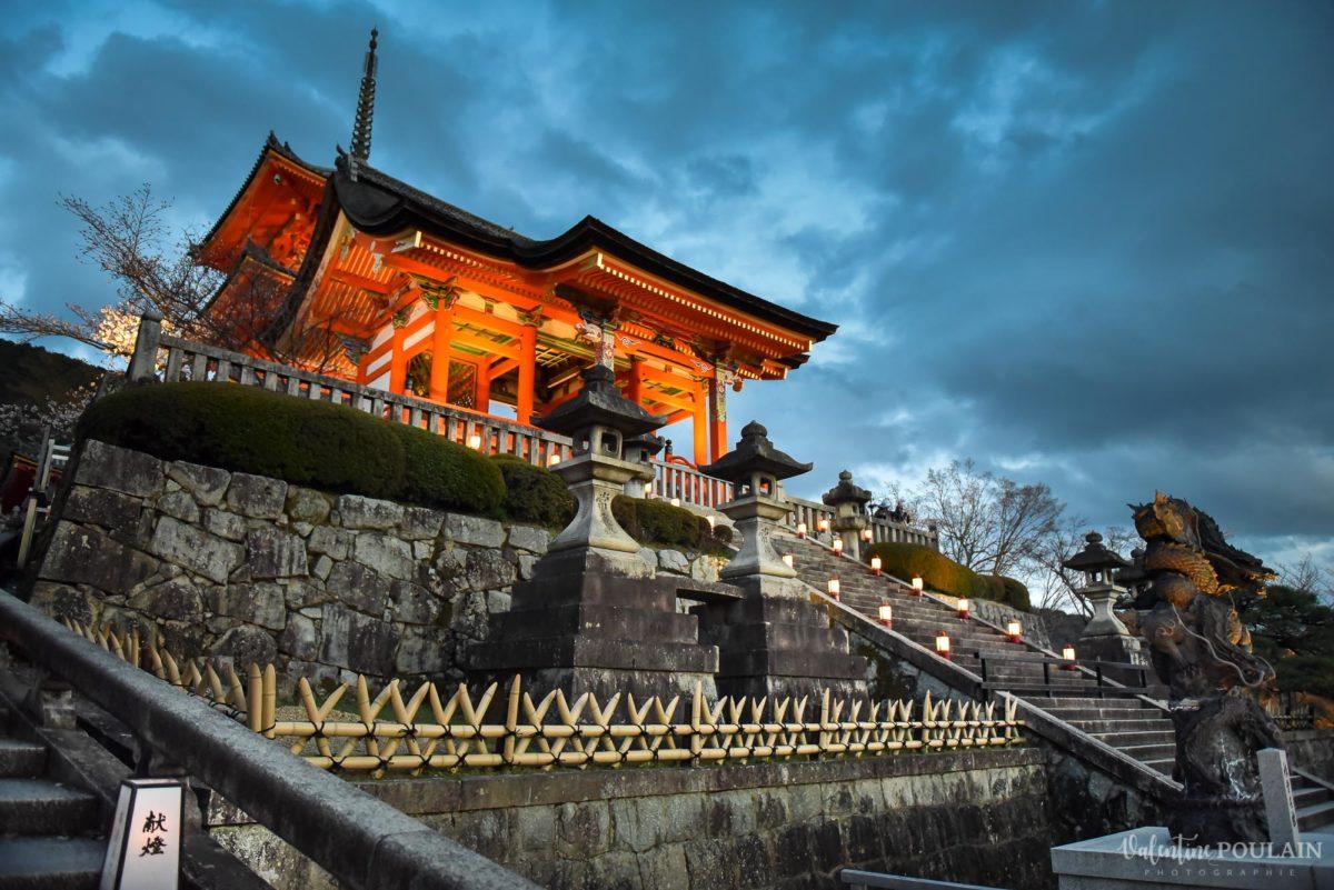 JAPON Tokyo Kyoto - Valentine Poulain temple nuit