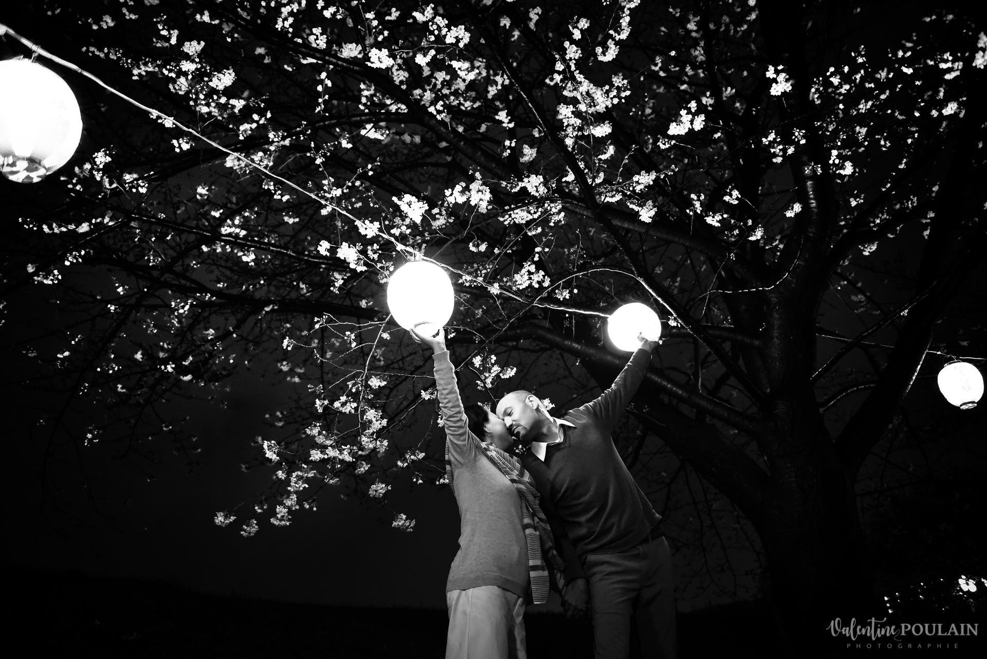 Shooting Couple Kyoto - Valentine Poulain lumière nb