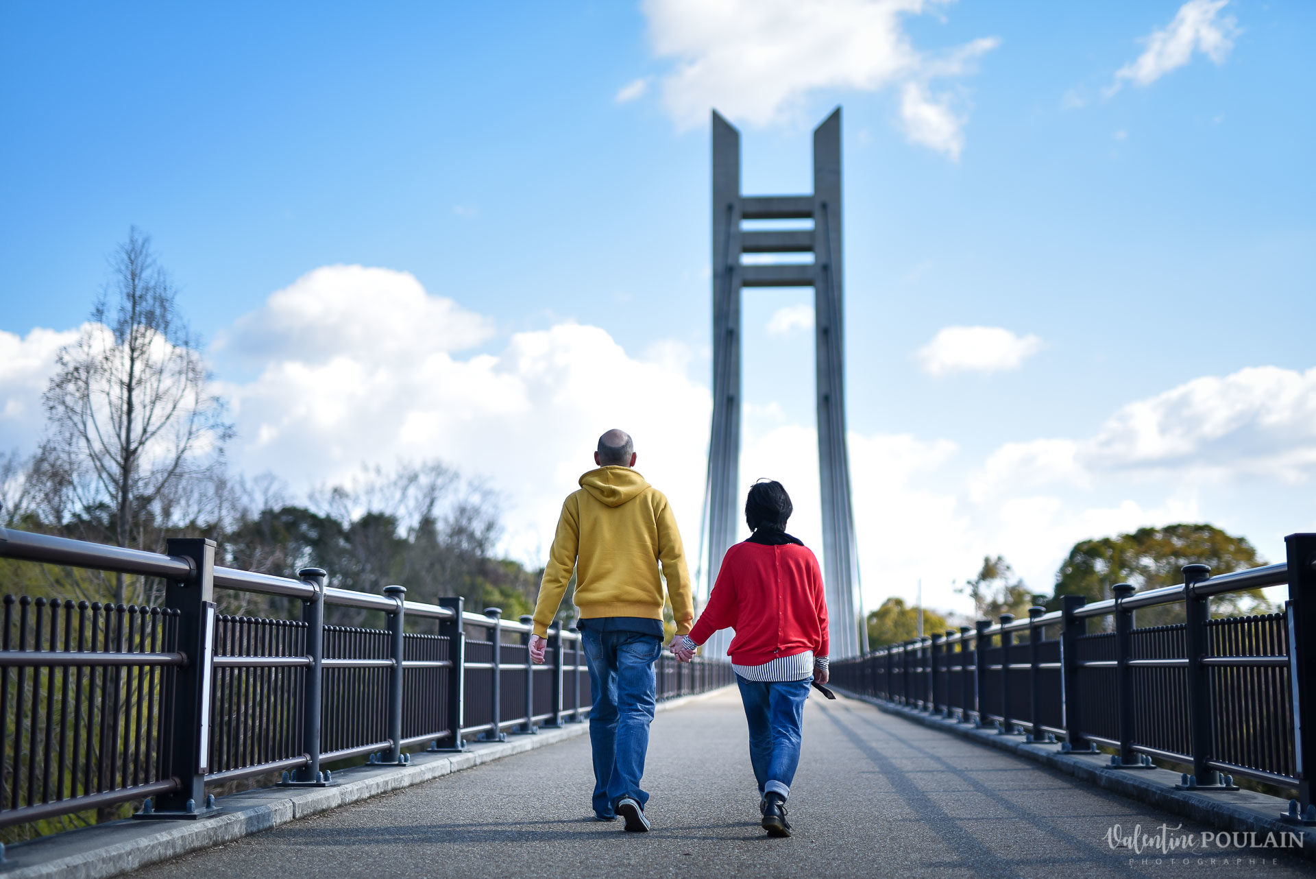 Shooting Couple Kyoto - Valentine Poulain pont