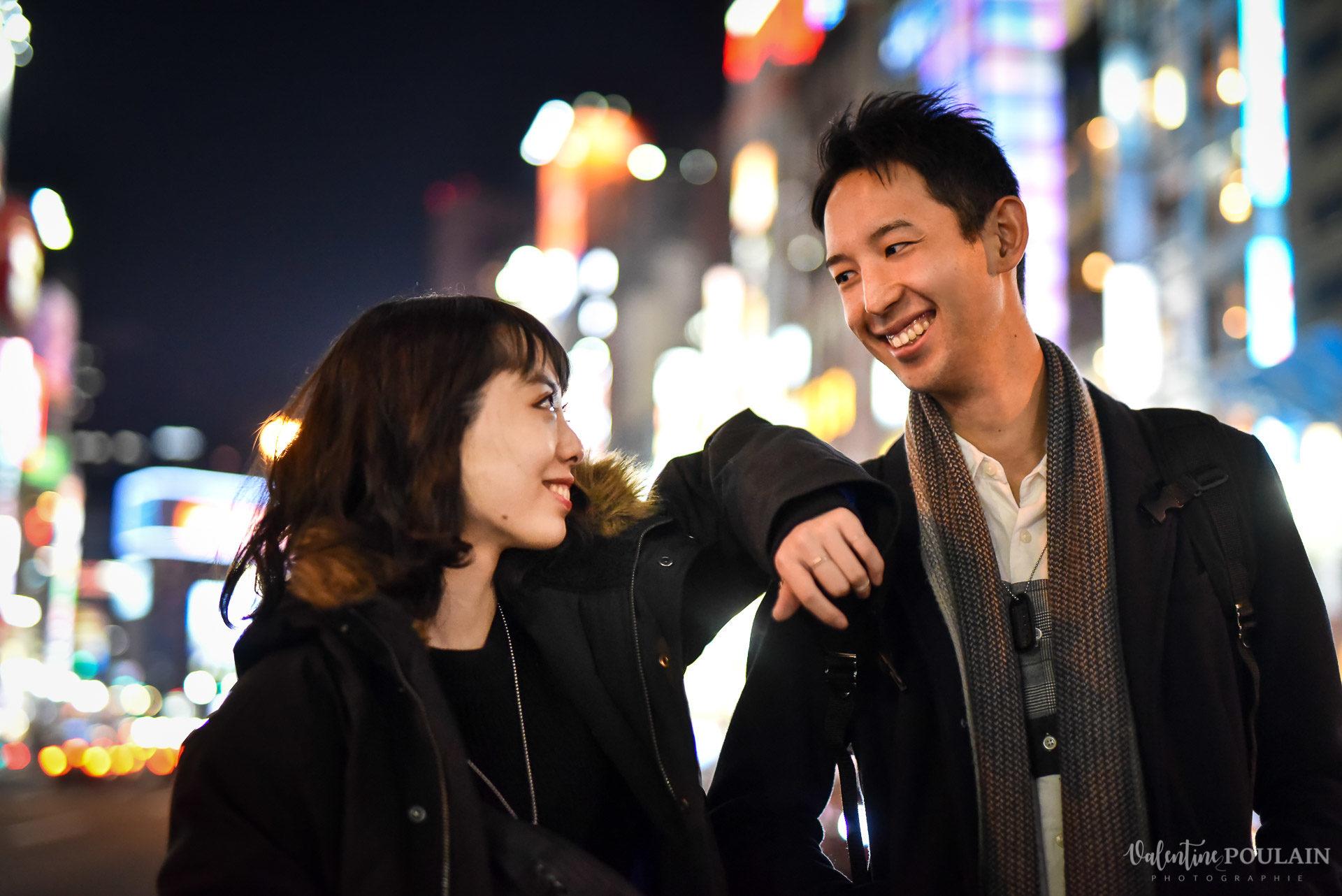 Shooting couple Japon Tokyo - Valentine Poulain lights