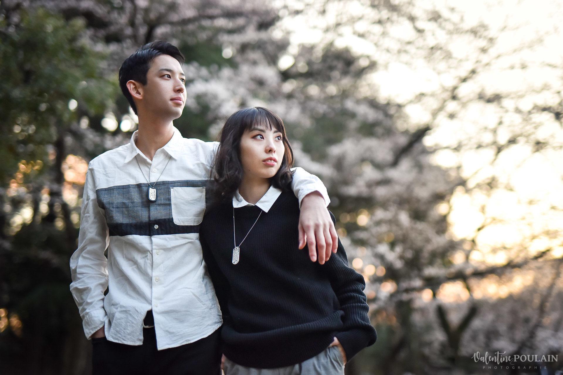 Shooting couple Japon Tokyo - Valentine Poulain sunset