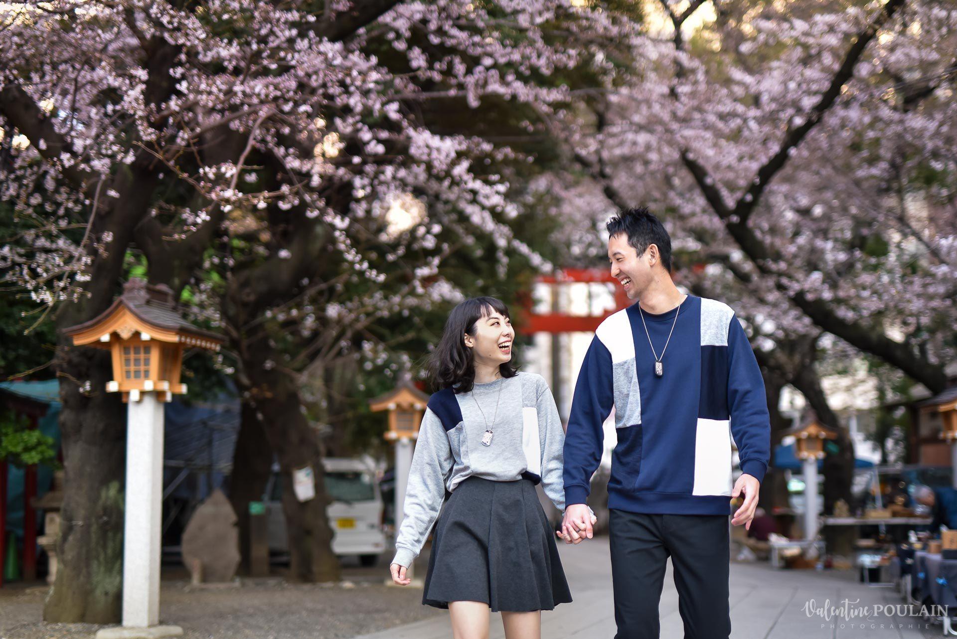 Shooting couple Japon Tokyo - Valentine Poulain cerisiers