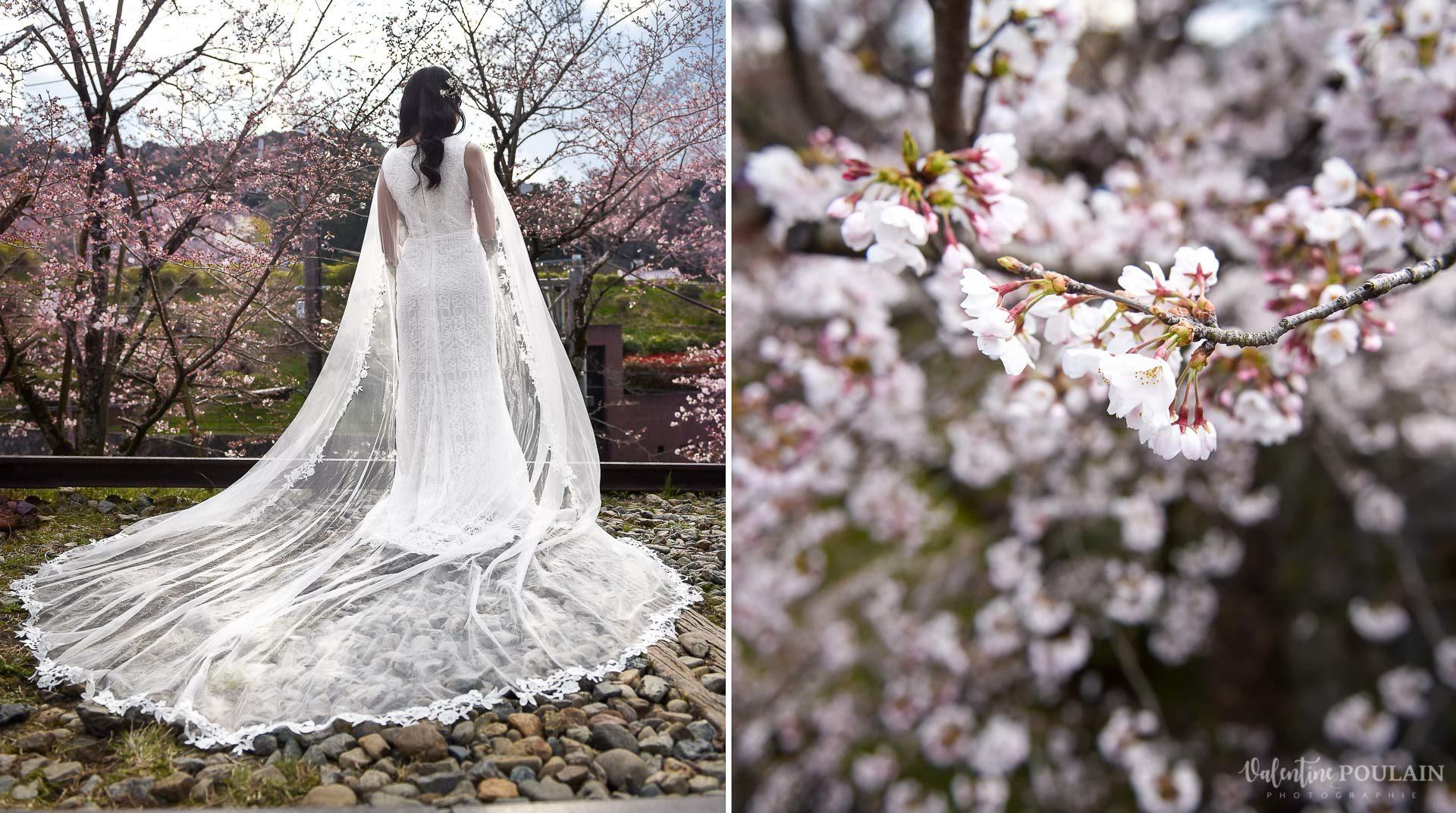 Shooting mariée Japon - Valentine Poulain fleur