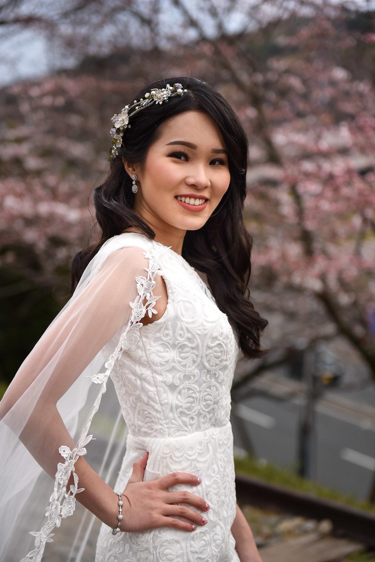 Shooting mariée Japon - Valentine Poulain mannequin