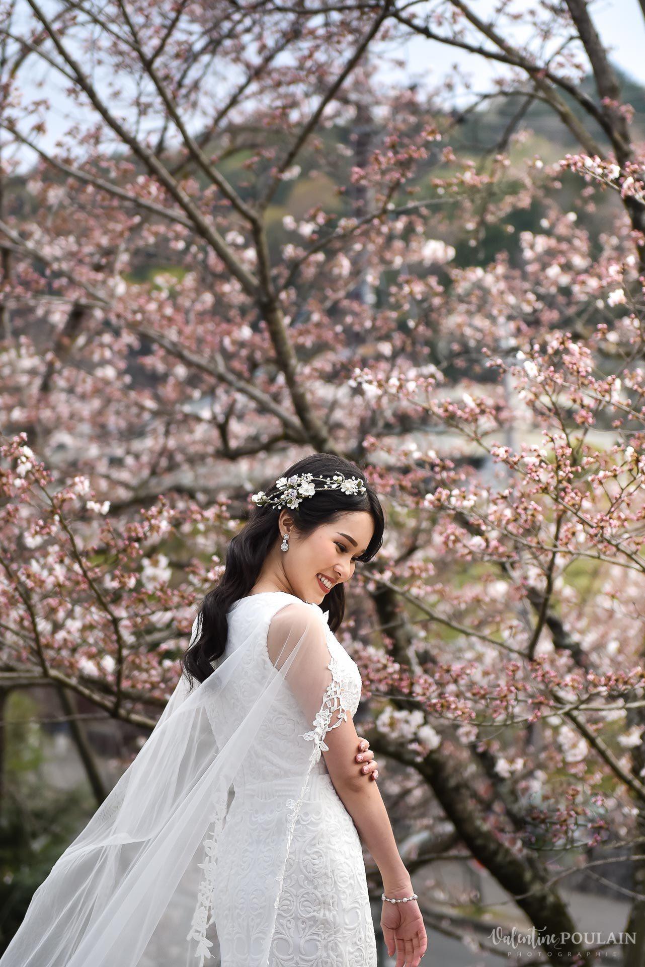 Shooting mariée Japon - Valentine Poulain nature