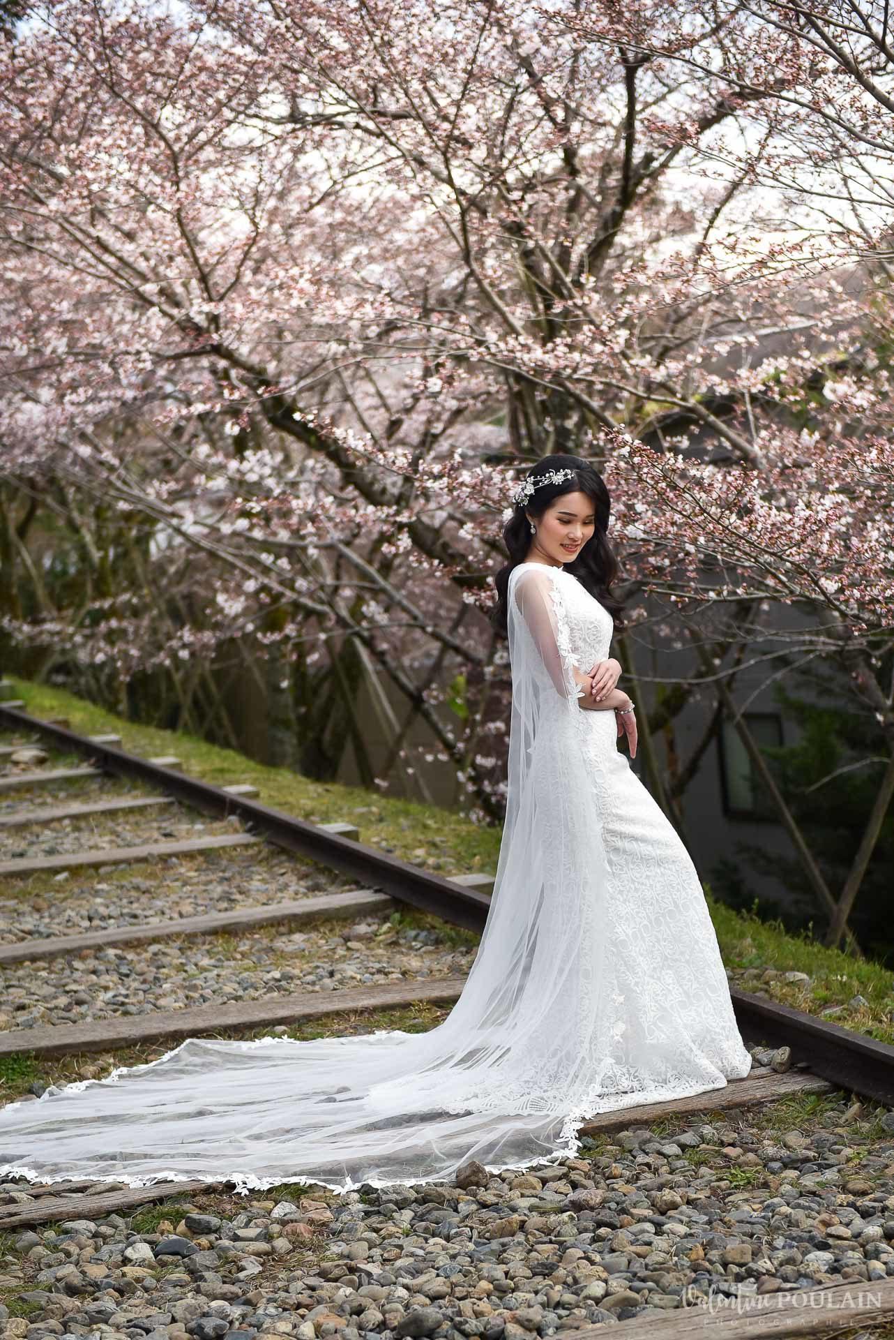 Shooting mariée Japon - Valentine Poulain pose