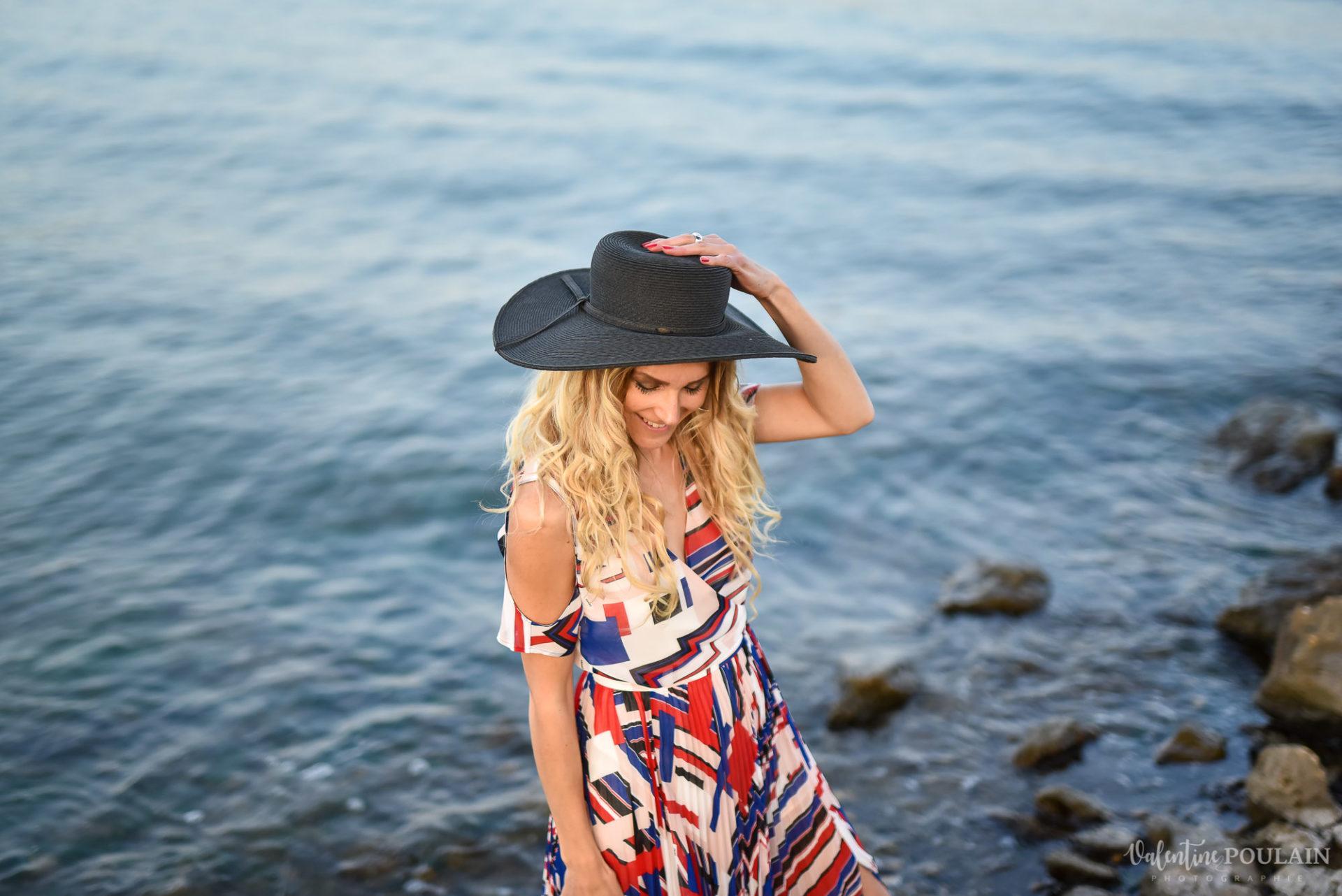 Shooting portrait Provence - Valentine-Poulain hat
