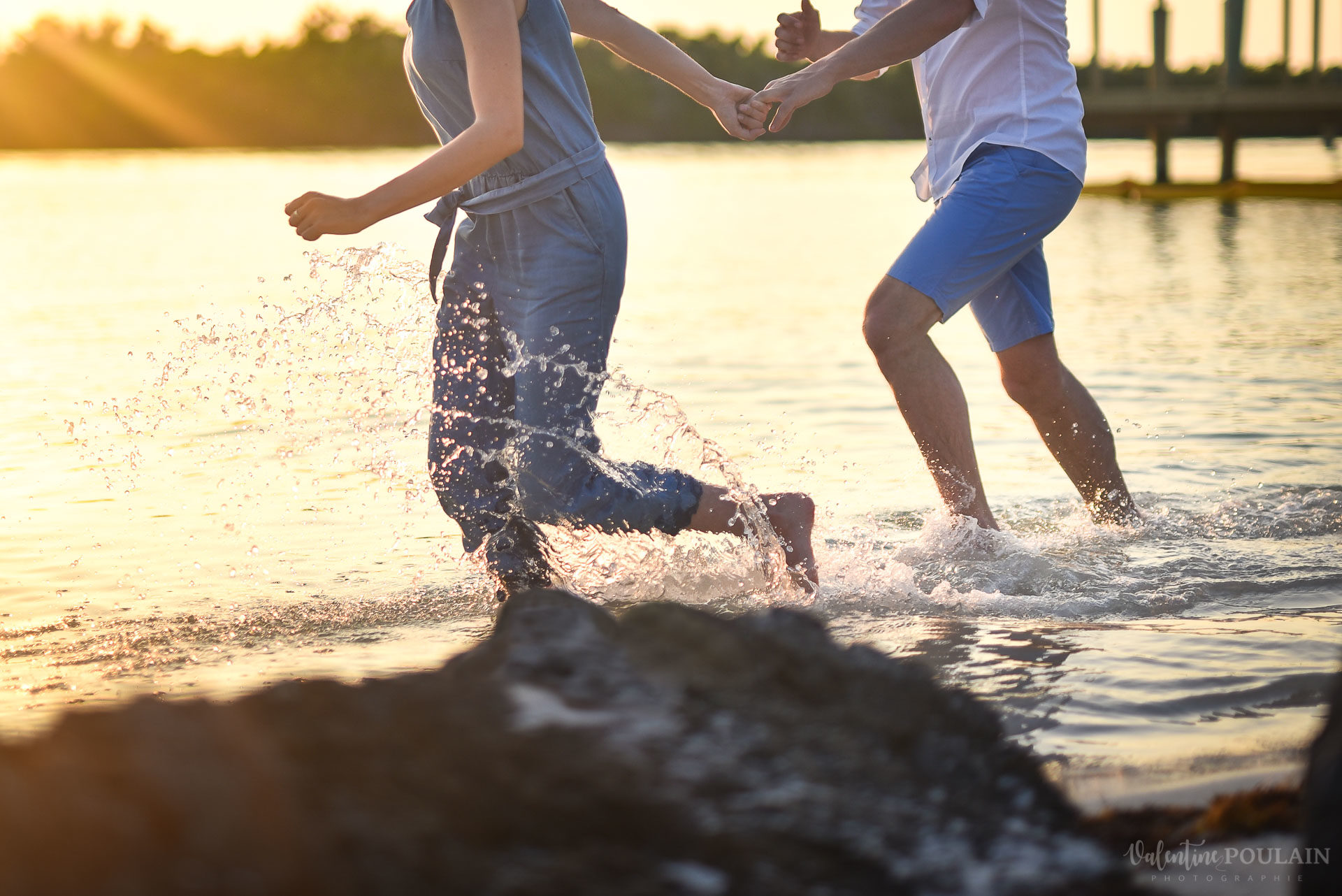Couple Miam Keys Florida - Valentine Poulain courir