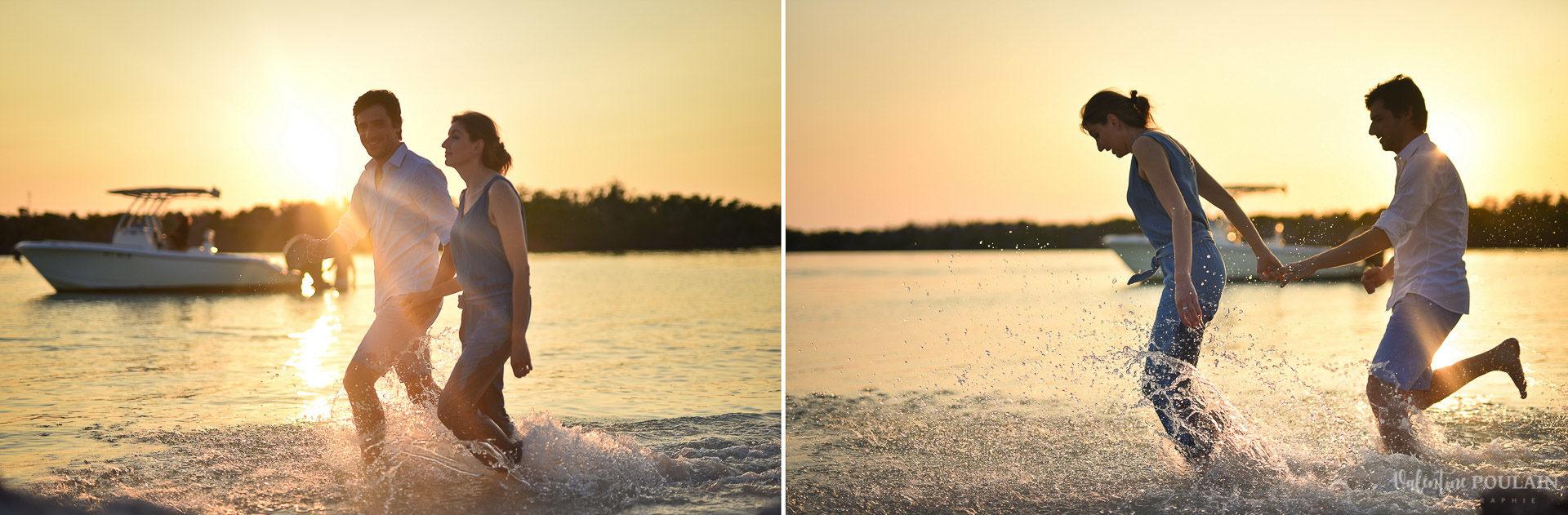 Couple Miam Keys Florida - Valentine Poulain plage