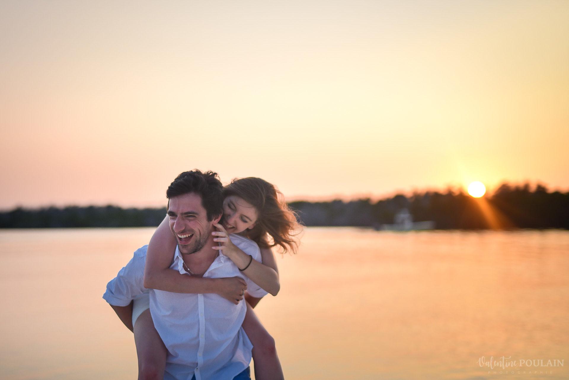 Couple Miam Keys Florida - Valentine Poulain sunset
