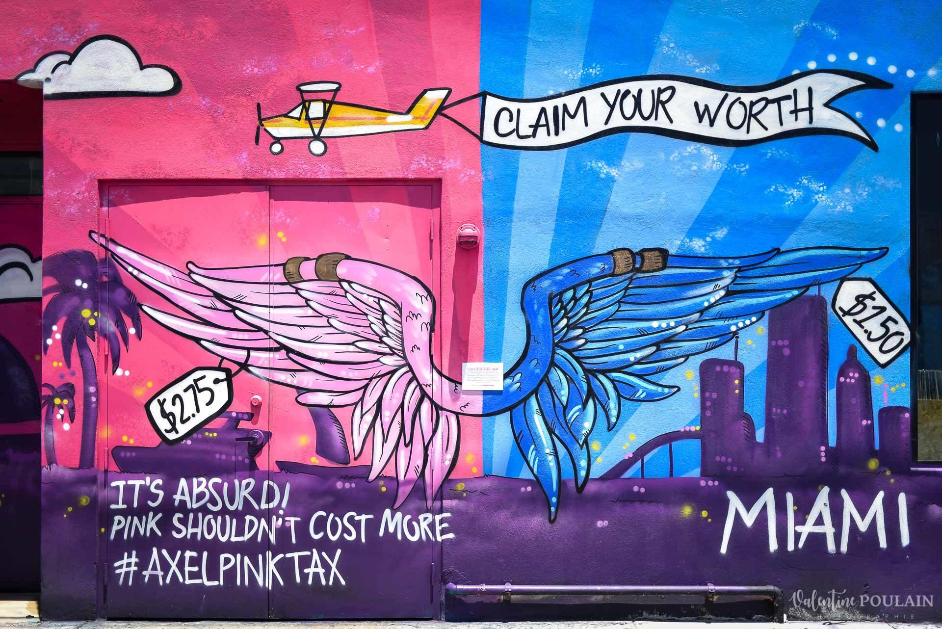 Couple Miami Wynwood - Valentine Poulain graffiti