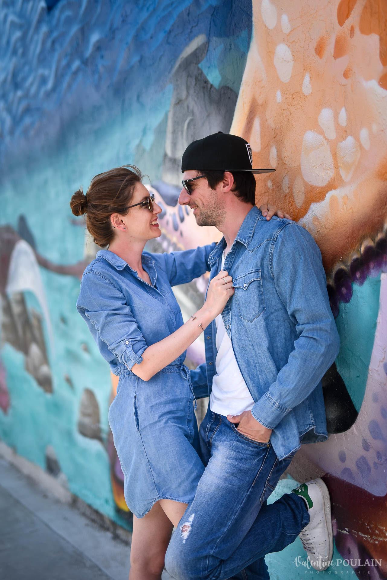 Couple Miami Wynwood - Valentine Poulain mur