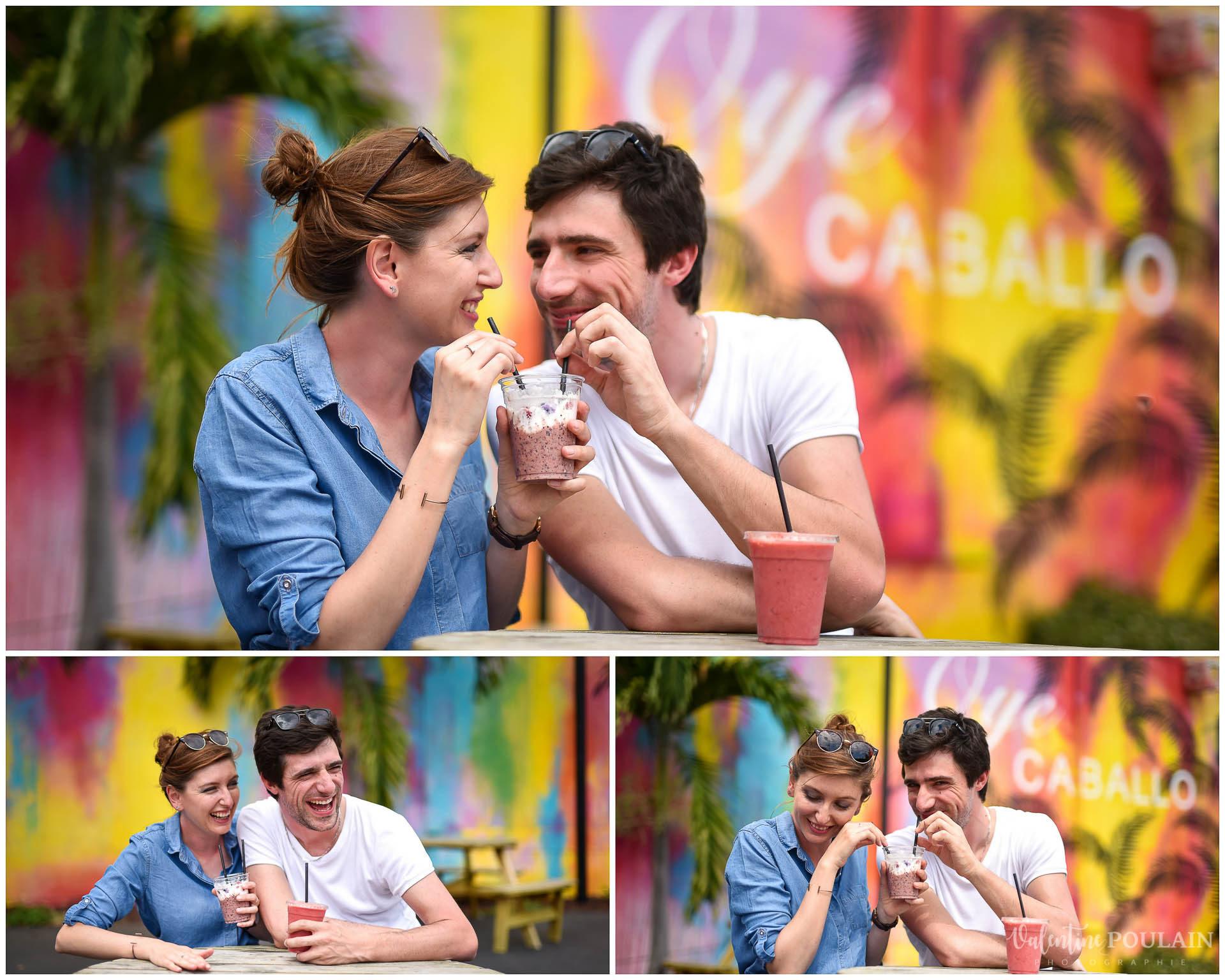Couple Miami Wynwood - Valentine Poulain smoothie