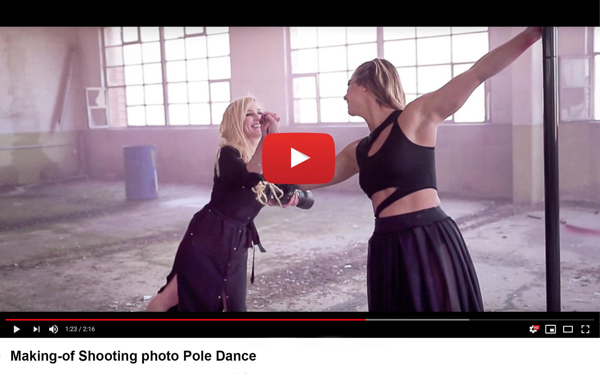 youtube making-of pole dance - Valentine Poulain