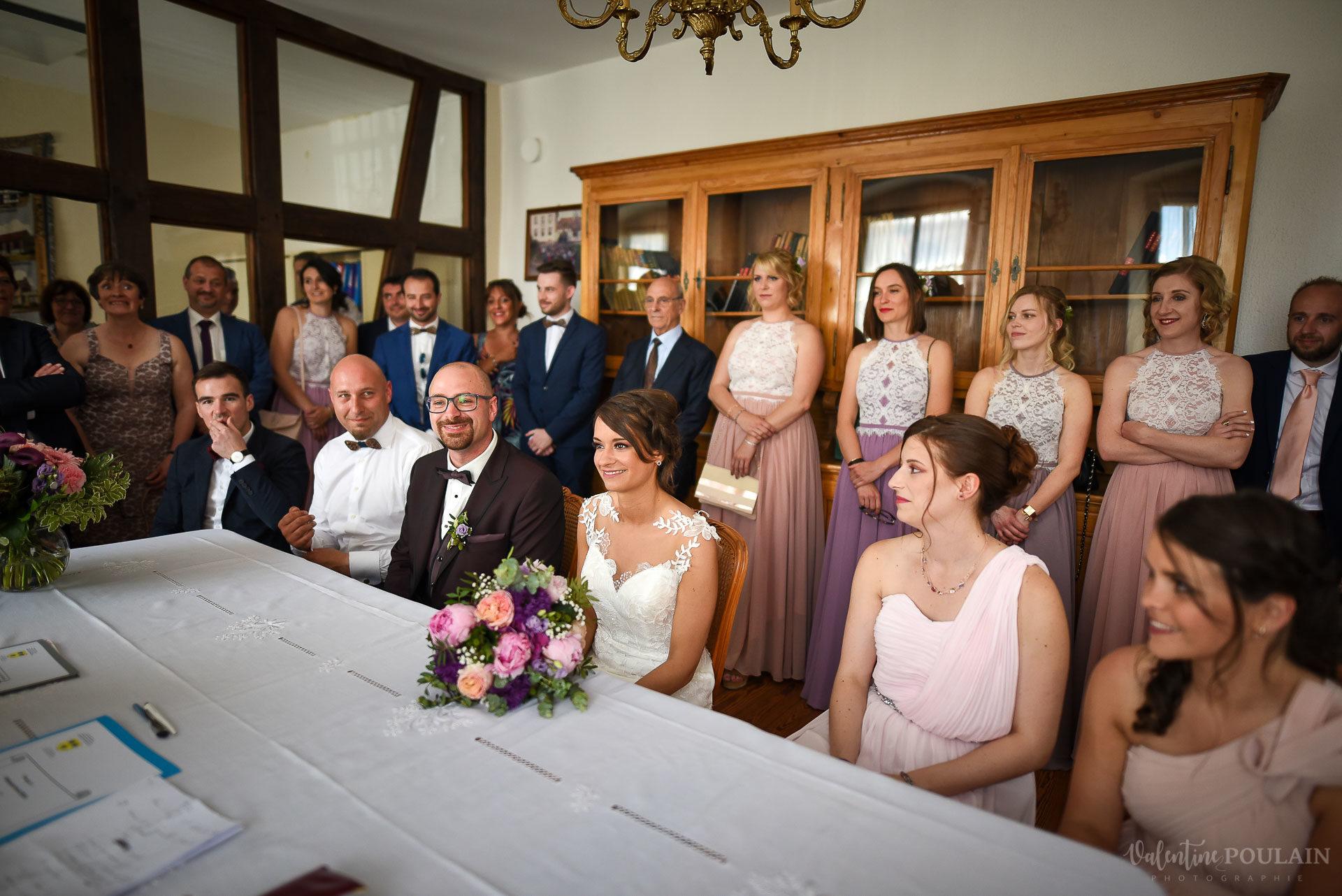 Mariage convivial Saverne - Valentine Poulain mairie