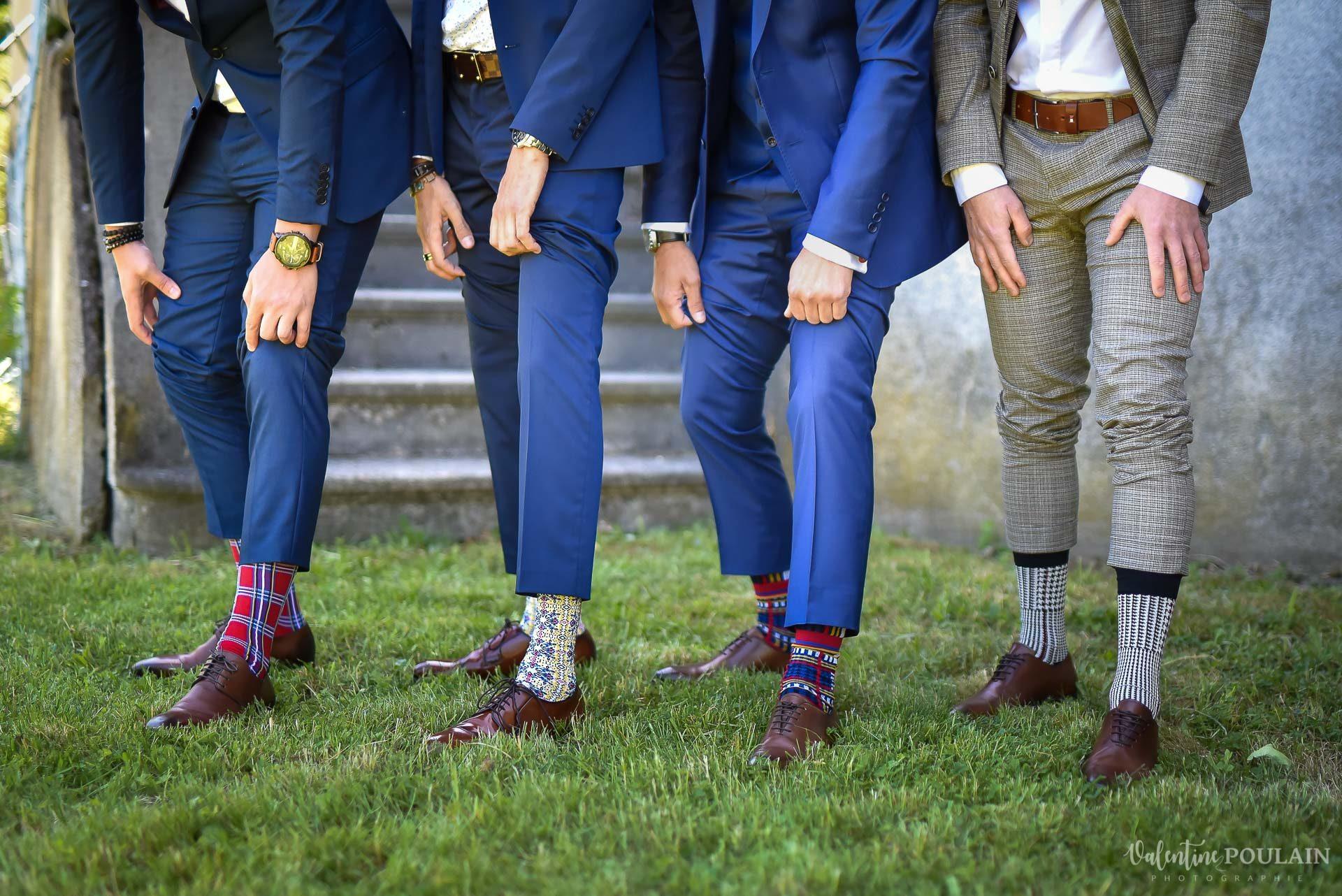 Mariage fun Petit Wettolsheim - Valentine Poulain chaussettes