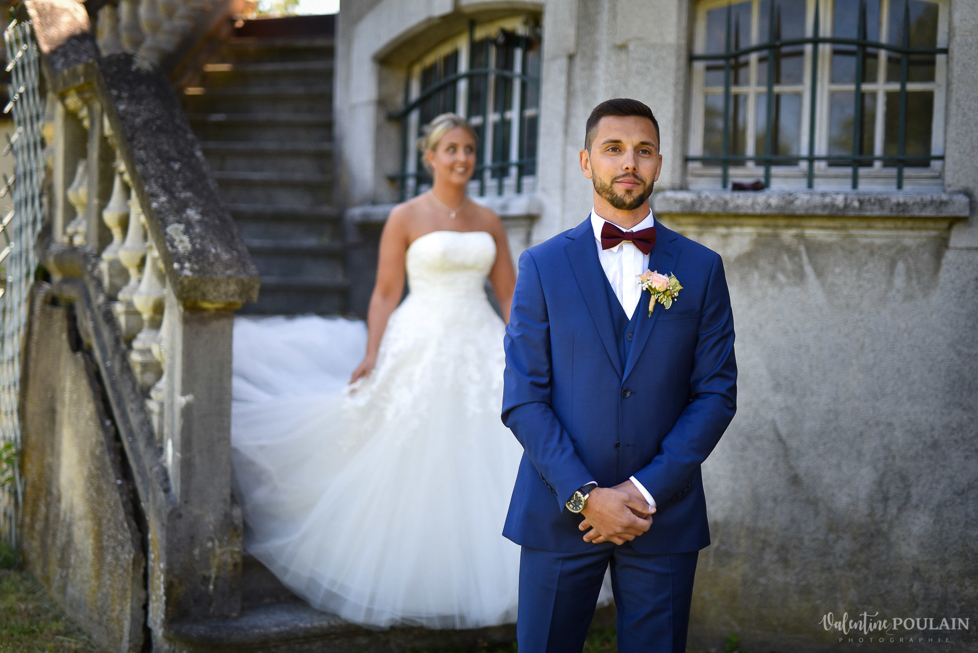 Mariage fun Petit Wettolsheim - Valentine Poulain elle arrive