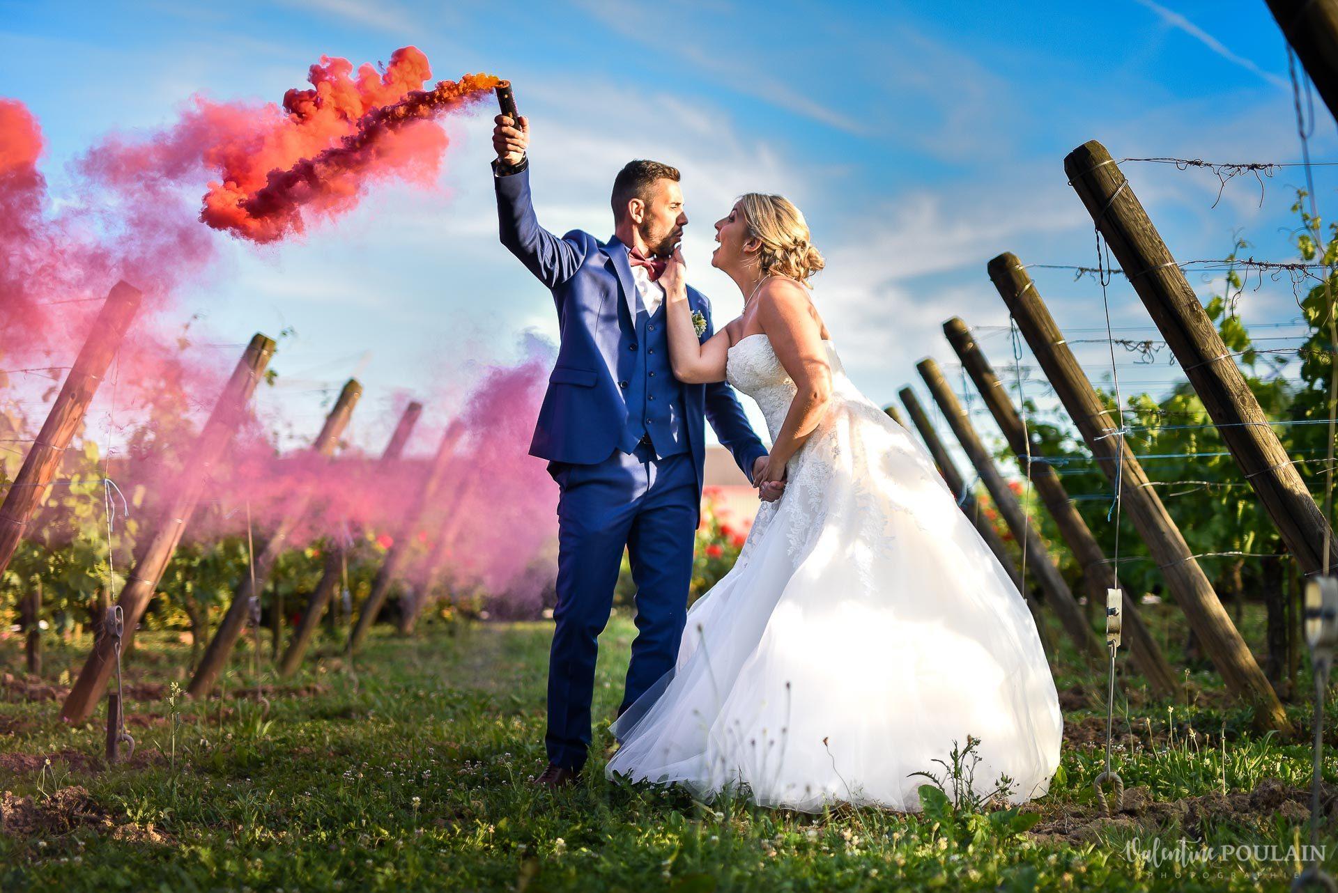 Mariage fun Petit Wettolsheim - Valentine Poulain fumi
