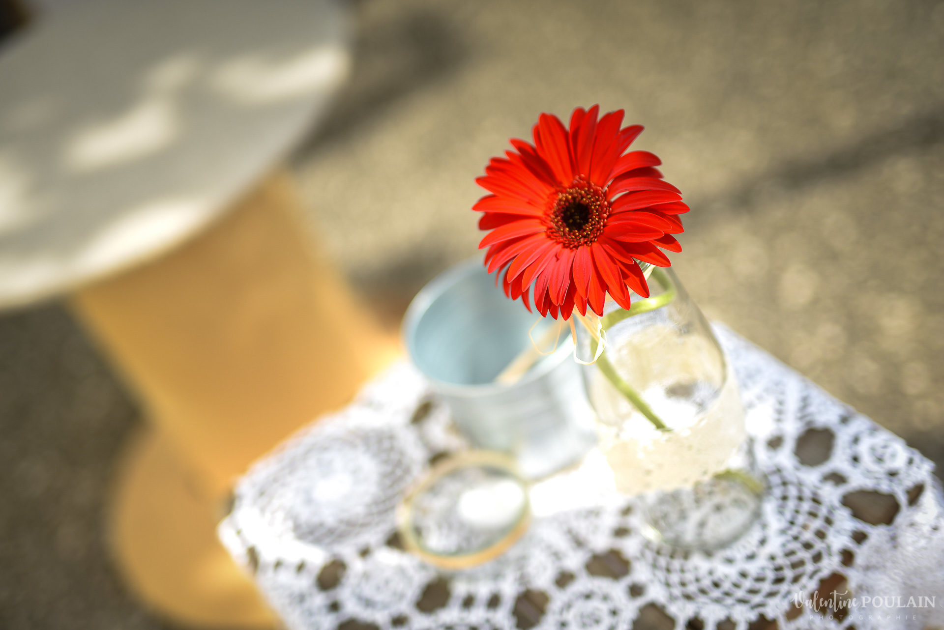 Mariage basketteurs - Valentine Poulain fleur
