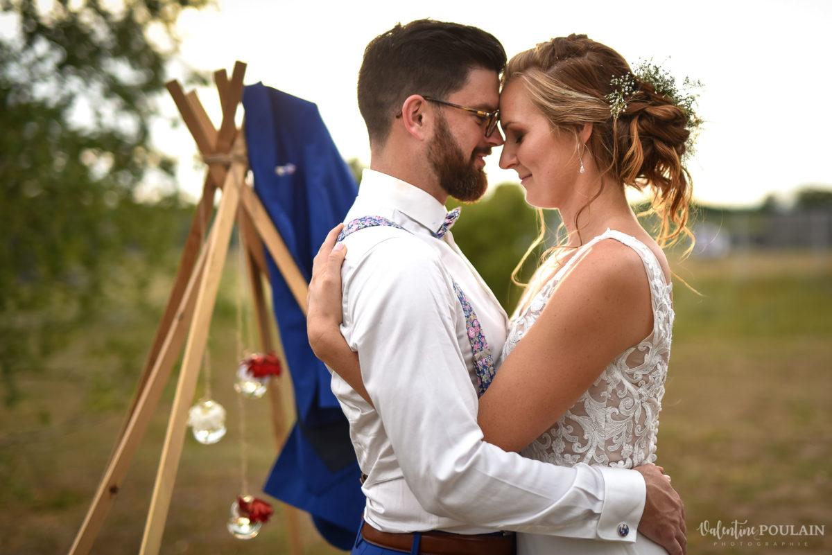 Mariage basketteurs - Valentine Poulain couple
