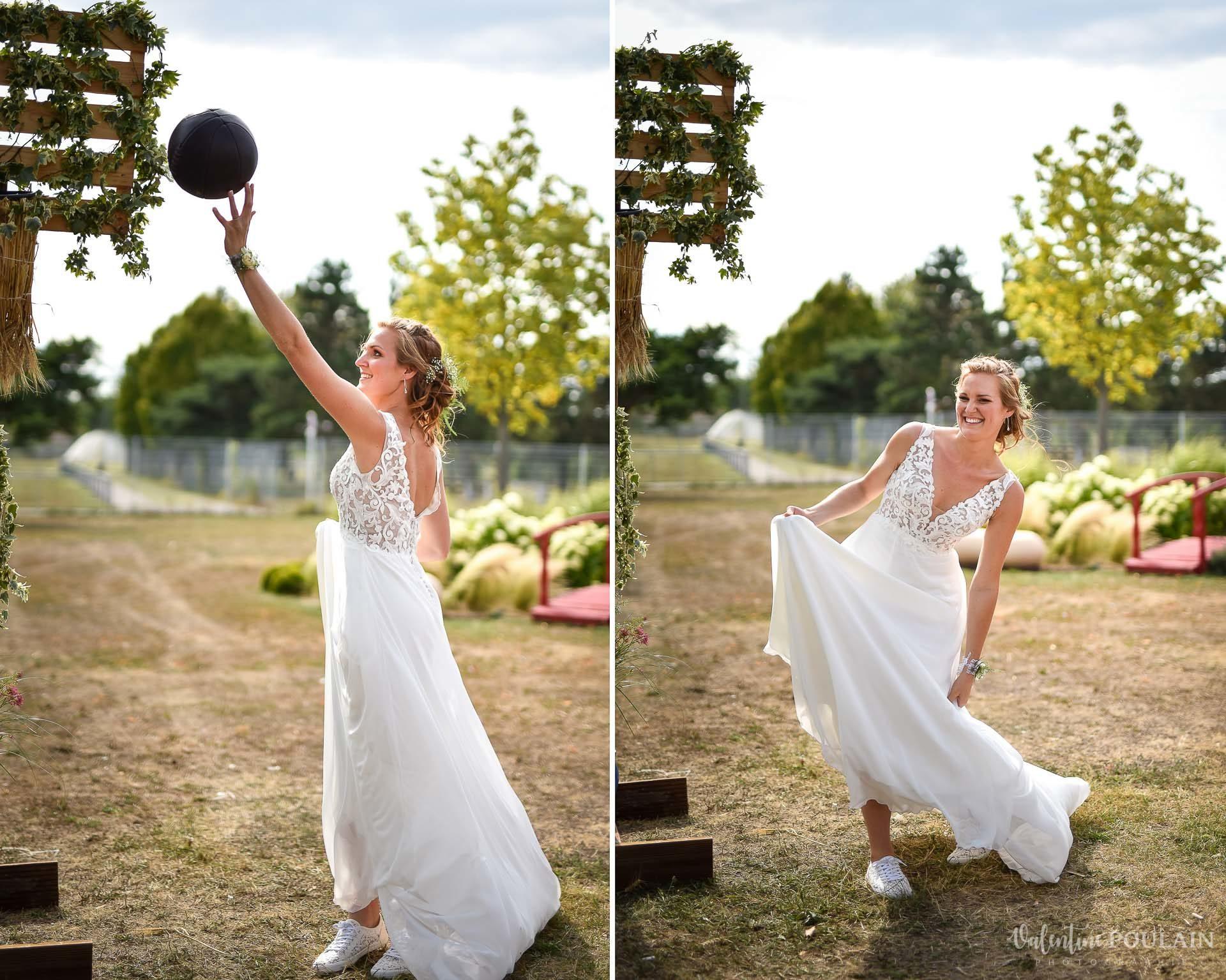 Mariage basketteurs - Valentine Poulain bride