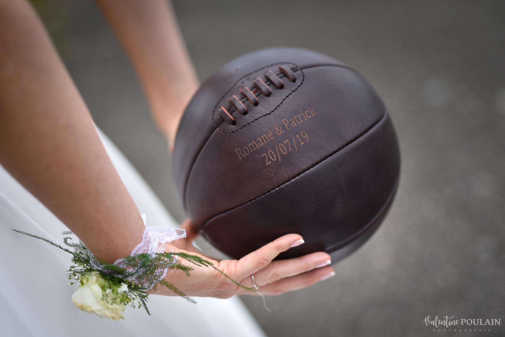 Mariage basketteurs - Valentine Poulain balle basket