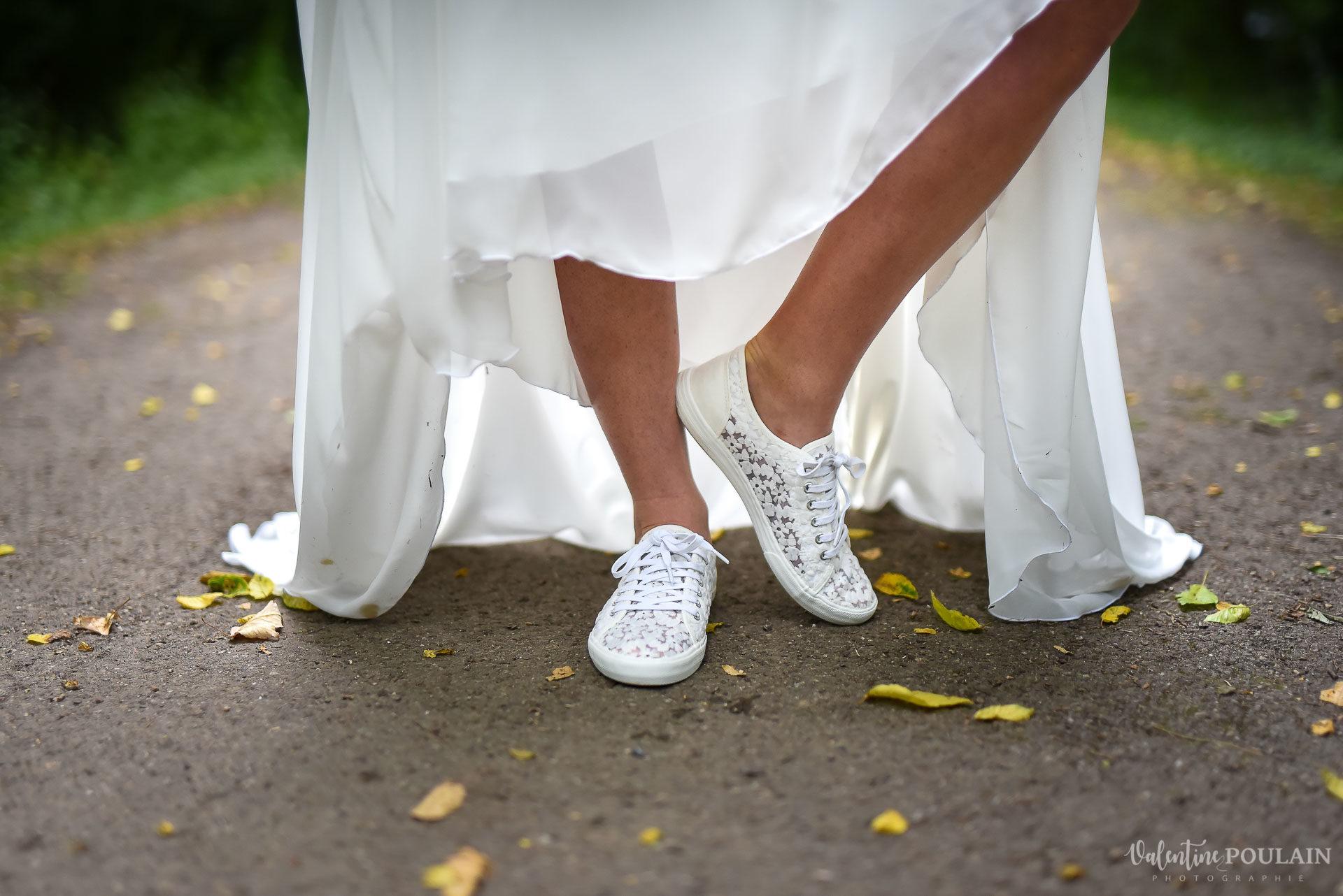 Mariage basketteurs - Valentine Poulain en baskets