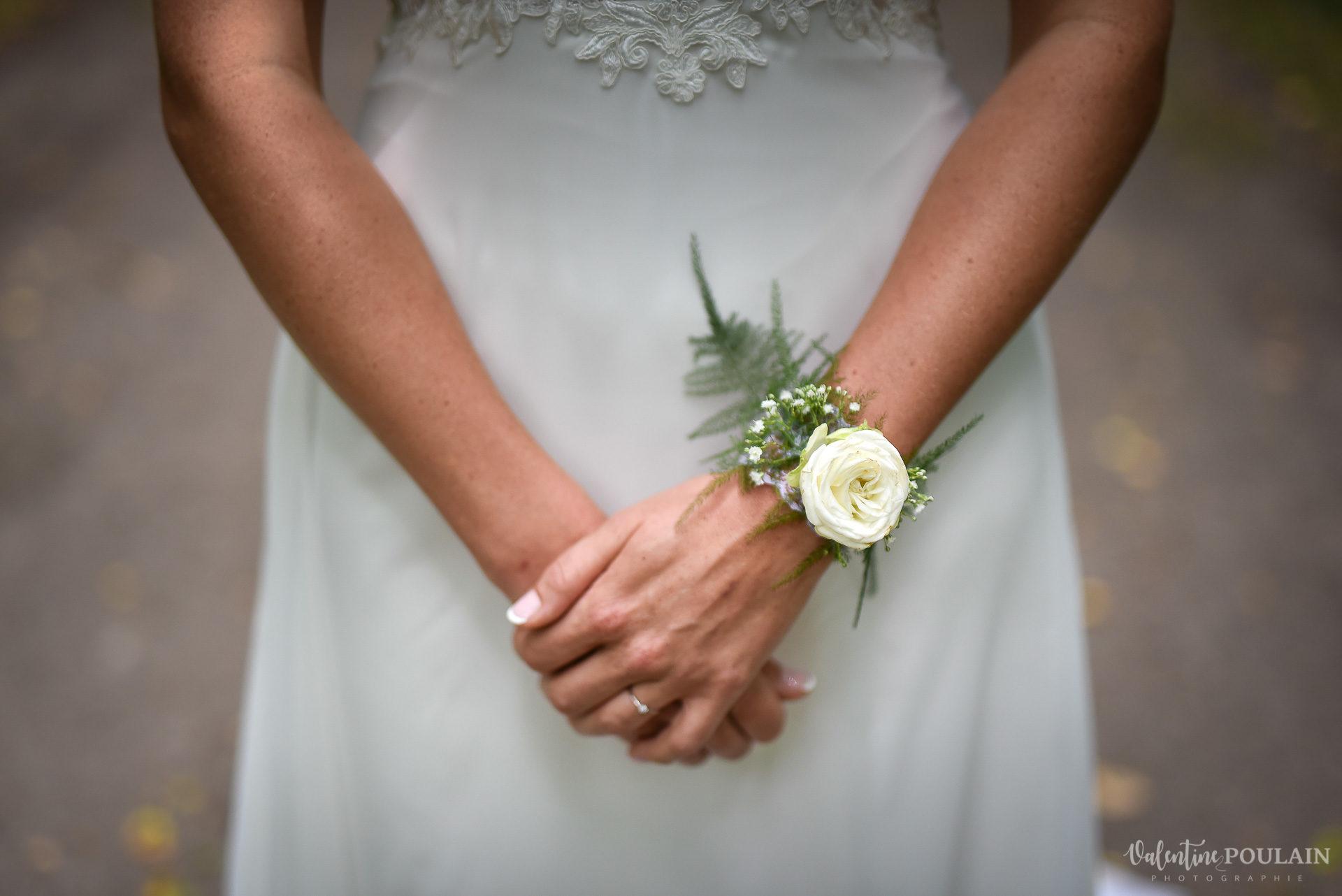 Mariage basketteurs - Valentine Poulain main
